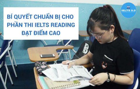 Bí quyết chuẩn bị cho phần thi IELTS Reading đạt điểm cao