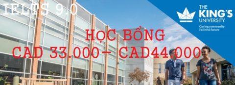HỌC BỔNG DU HỌC CANADA TỪ CAD 33,000-44,000