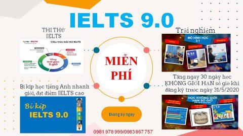 IELTS 9.0 – Học 1 tháng bằng 1 năm thông thường