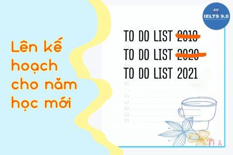 📚 Lên kế hoạch cho năm học mới!!!